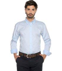 camisa azul claro preppy ml cfit unicolor bd