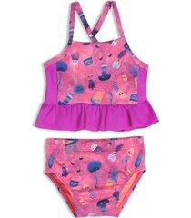 vestido de baño bikini violeta offcorss