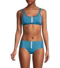 chaser women's front-zip bikini top - bay and shore - size xs