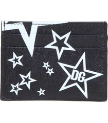 dolce & gabbana leather card holder with print