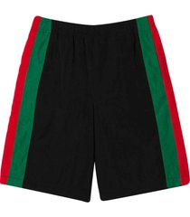 gucci shorts with multicolor stripes