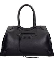 balenciaga neo classic tote in black leather
