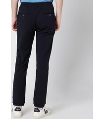 canali men's drawstring jersey trousers - navy - it 48/m