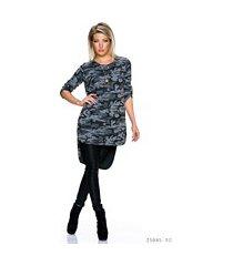long-blouse camouflage / grijs