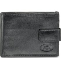 mancini equestrian2 collection rfid secure wallet with coin pocket