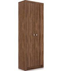 armário alto 2 portas nogal me4105 videira