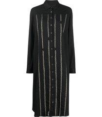 suzusan mid-length shirt dress - black