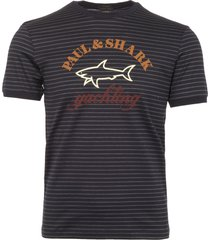 paul & shark yachting striped logo t-shirt a17p1608sf-106