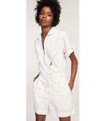 tommy hilfiger women's short jumpsuit white - m