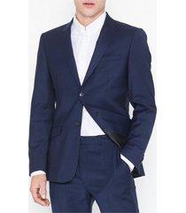 topman premium navy slim check blazer kavajer & kostymer navy blue