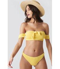camille botten x na-kd smocked bikini bottom - yellow