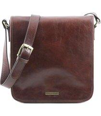tuscany leather tl141260 tl messenger - borsa a tracolla 1 scomparto marrone