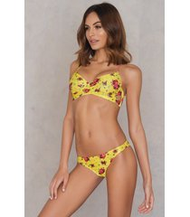 na-kd swimwear bikini panty - yellow