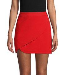 crossover mini skirt