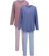 pyjama harmony rozenhout/jeansblauw