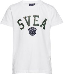 k. leo logo tee t-shirts short-sleeved vit svea