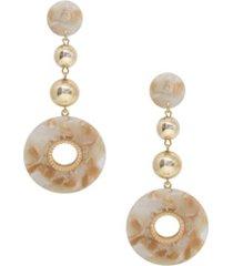 ettika looped in resin earrings