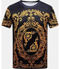 mens summer creative 3d printed round collo t-shirt manica corta casual