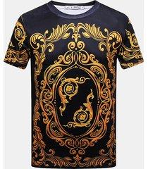 t-shirt casual da uomo a manica corta stampata 3d creativa rotonda collo