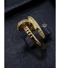 anillo clavo de cartier oro 18k italy ley 750