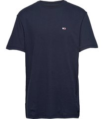 tjm tommy classics tee t-shirts short-sleeved blå tommy jeans