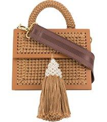 0711 copa tassel tote bag - brown