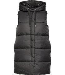 onlnewasta puffer waistcoat cc otw vests padded vests svart only