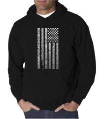 la pop art men's word art hoodie - anthem