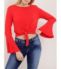 blusa manga longa autentique feminina - feminino