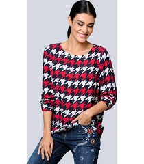 blouse alba moda marine::rood::offwhite