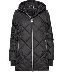 active jacket doorgestikte jas zwart röhnisch