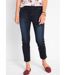 push up 7/8 stretch jeans met comfortband, straight