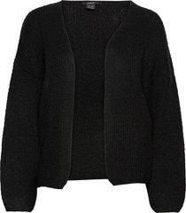 cardigan vanessa stickad tröja cardigan svart lindex