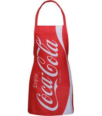 avental coca-cola enjoy vermelho  50 x  70 cm - avental coca-cola enjoy vermelho 50 x 70 cm