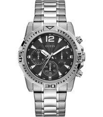 reloj guess hombre commander/gw0056g1 - plateado