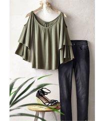 maglia con cut-out (verde) - bodyflirt