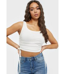 nly trend double drawstring top linnen