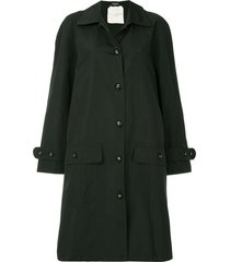 chanel pre-owned 1980s loose-fit trench jacket - black