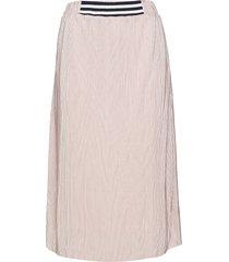 kaisa skirt knälång kjol rosa kaffe