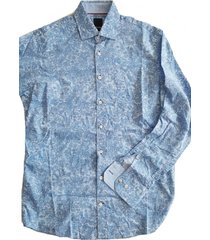 pure blauw fashion fit overhemd