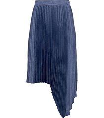 pleated long skirt knälång kjol blå maud