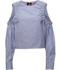 ithaca stripe top ls blus långärmad blå tommy hilfiger