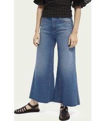 scotch & soda cropped high-rise jeans met wijde pijpen – la chance