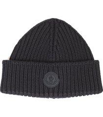 moncler black hat for man