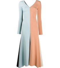 fluted maxi dress