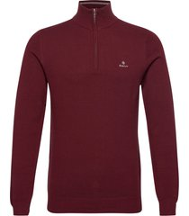 cotton pique half zip knitwear half zip jumpers röd gant