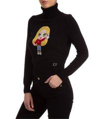 dolcevita collo alto maglione maglia donna cfmascotte