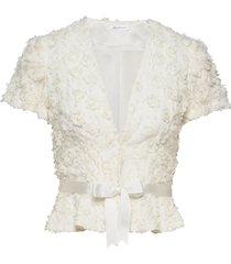 anna jacket blouses short-sleeved creme ida sjöstedt