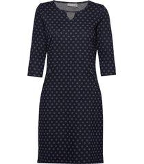 frhidotly 1 dress knälång klänning blå fransa