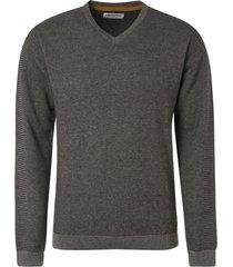 no excess pullover v-neck plated grey melange